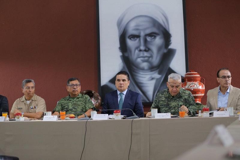 El Gobernador Silvano Aureoles encabezó la reunión del Grupo de Coordinación Michoacán, donde destacaron la incautación y destrucción de diversas dosis y laboratorios
