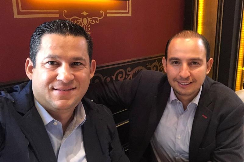 Guanajuato es ejemplo de la fuerza de los principios que sostienen al PAN, hoy encabezada por Diego Sinhué: Marko Cortés