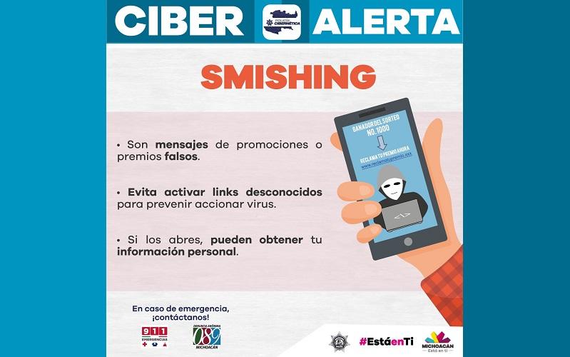 La SSP recomienda tomar las medidas necesarias para evitar ser víctima de fraude o robo de información personal; si notas actividad inusual en tu dispositivo móvil puedes denunciar de manera anónima al 9-1-1