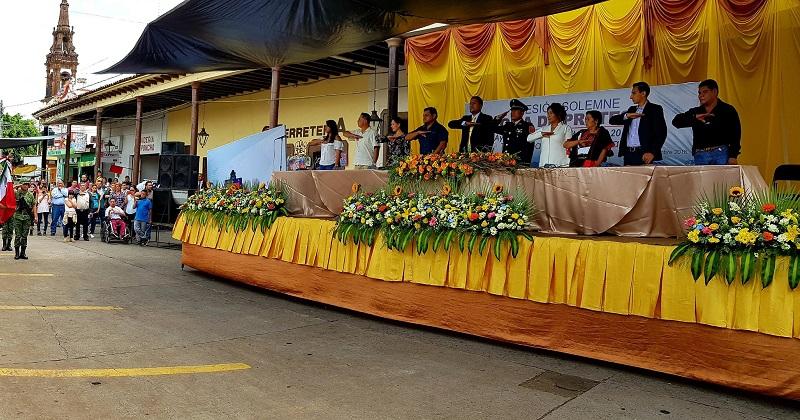 Ceja Gil invitó a todos los ciudadanos de Tangamandapio a unir esfuerzos y a los integrantes de su gabinete les pidió trabajar con honestidad y respeto