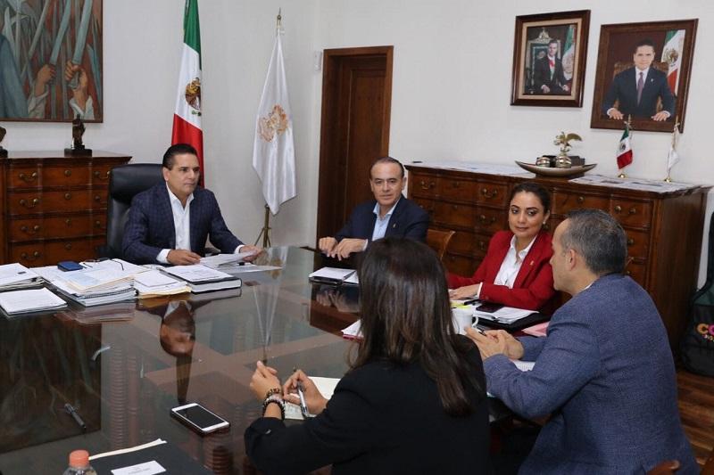Aureoles Conejo delineó la ruta de trabajo interinstitucional para cumplir con un informe austero, realista y que contemple logros, programas y acciones más relevantes del último año