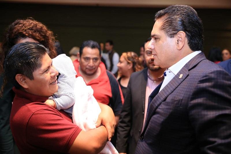 Aureoles Conejo destacó que los recursos para garantizar el pago puntual de las pensiones de las víctimas, que recientemente fueron incrementadas, estarán contemplados en el Presupuesto de Egresos del 2019