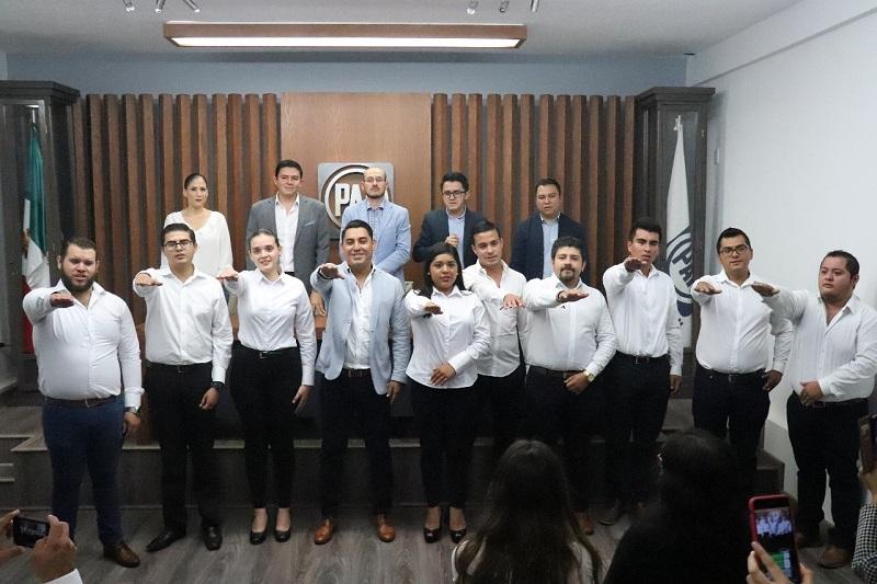 Jóvenes de todo el Estado se dieron cita en las instalaciones para ser parte de la asamblea que ratificaría a Rodrigo Rodríguez Negrete como el nuevo dirigente juvenil a nivel estatal