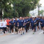 Esta mañana 80 cadetes participaron satisfactoriamente en la tercera edición de corre, trota y camina por el medio ambiente