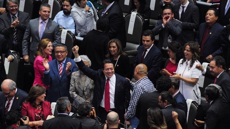 """El coordinador del grupo parlamentario y presidente de la Junta de Coordinación Política de la Cámara de Diputados, Mario Delgado Carrillo, informó este lunes que """"por el momento no habrá reducción"""" (FOTO: CUARTOSCURO)"""