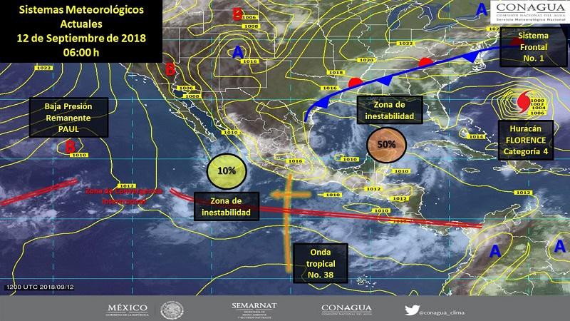Se prevé el desarrollo de nubes de tormenta en gran parte del territorio nacional, acompañadas de caída de granizo y vientos fuertes