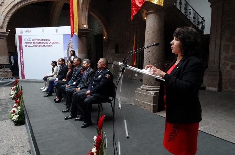 """María del Carmen Cortés hizo un llamado a posicionar a Morelia en una labor que se hará juntos Gobierno - Ciudadanía, por """"la Cuarta Transformación Nacional"""""""