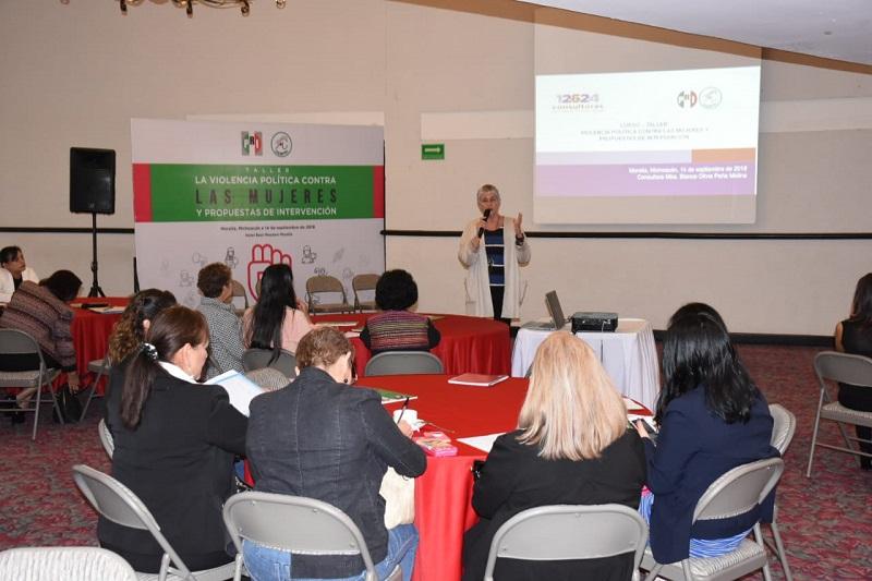Las asistentes a este taller fueron alcaldesas, síndicas, regidoras, militantes y simpatizantes del instituto político