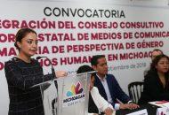 Reconoce periodista Sara Lovera, esfuerzo integral del Gobierno de Michoacán por hacer efectivas las políticas con perspectiva de género