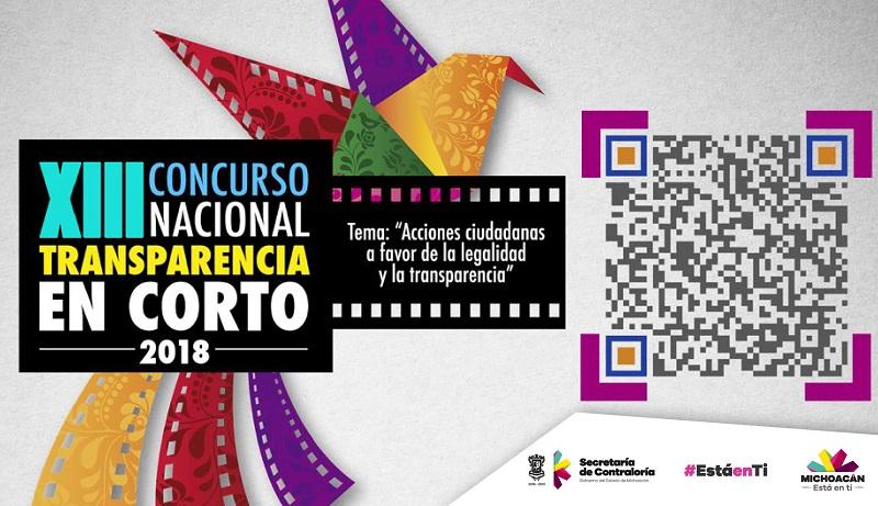 """A punto de cerrar, convocatoria del concurso nacional """"Transparencia en Corto 2018"""""""