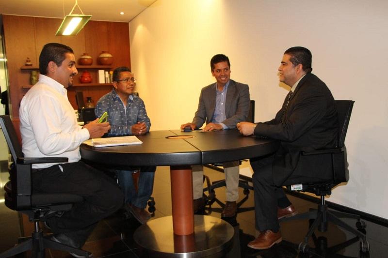 Directivos y sindicato del Colegio de Estudios CECyTEM, encabezados por el director general, José Hernández Arreola, realizaron una gira de trabajo en la Ciudad de México