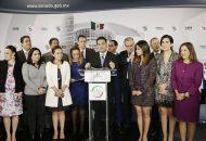 La Junta de Coordinación Política (Jucopo), presidida por Ricardo Monreal, que busca reducir de 10 a cinco minutos la presentación de iniciativas