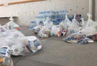 Los víveres y productos recolectados en el centro de acopio serán canalizados de inmediato a las familias en desgracia