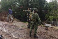 Militares de la 21 Zona Militar, se encuentran permanentemente alertas para continuar apoyando ante cualquier contingencia provocada por estos fenómenos meteorológicos en el estado