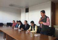 La reunión se llevó acabo en la sala de juntas de la Presidencia Municipal de Puruándiro y contó con la asistencia de munícipes de Angamacutiro, Briseñas, La Piedad, Numarán, Penjamillo y Puruándiro