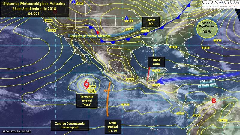 Tormentas muy fuertes a puntuales intensas se esperan en Coahuila, Nuevo León, Puebla, Nayarit, Michoacán, Oaxaca y Veracruz