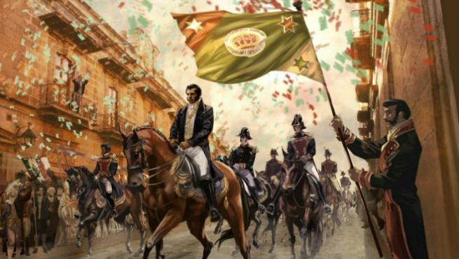 El Ejército Trigarante entró a la capital del país bajo el mando de Agustín de Iturbide, nacido en Valladolid, hoy Morelia, quien desde octubre de 1820 comenzó con sus planes de independencia