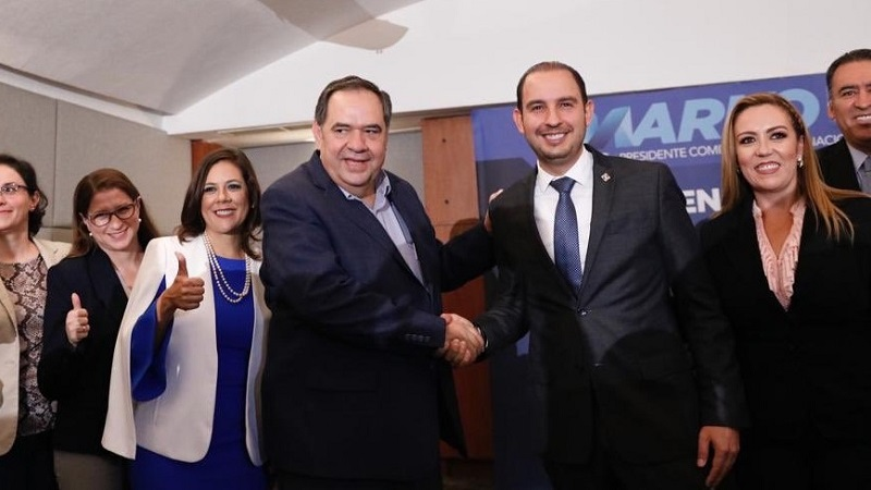 Cabe recordar que en esta fórmula, Marko Cortés contenderá por la Presidencia nacional, mientras que Héctor Larios lo hará por la Secretaría General