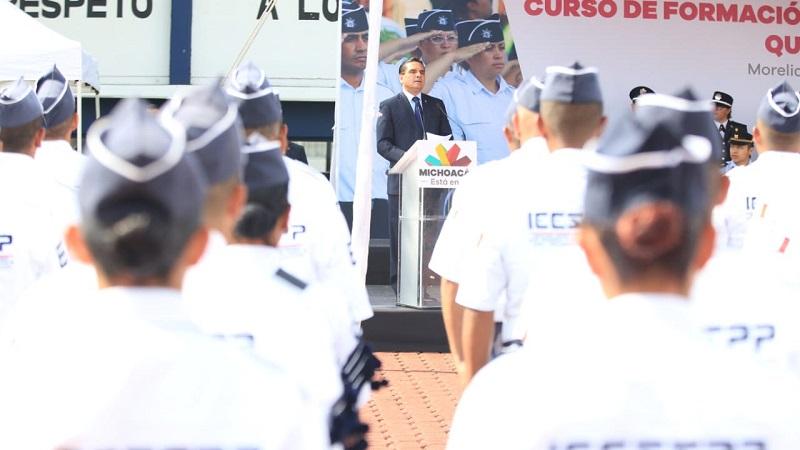 Se gradúan 96 cadetes que hoy se integran a la Policía Michoacán