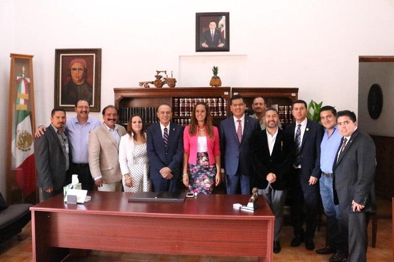 Encabeza el secretario de Gobierno, Pascual Sigala Páez, reunión de trabajo con dirigentes de ambos institutos políticos