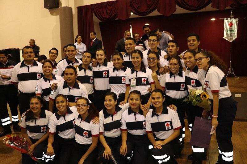 En el evento, el Vicepresidente del Consejo Local en Morelia, Raúl Maldonado Maza, felicitó a los graduados y los invitó a aprovechar los conocimientos para salvar vidas, toda vez que Cruz Roja Morelia ha sobresalido por la calidad en la atención prehospitalaria