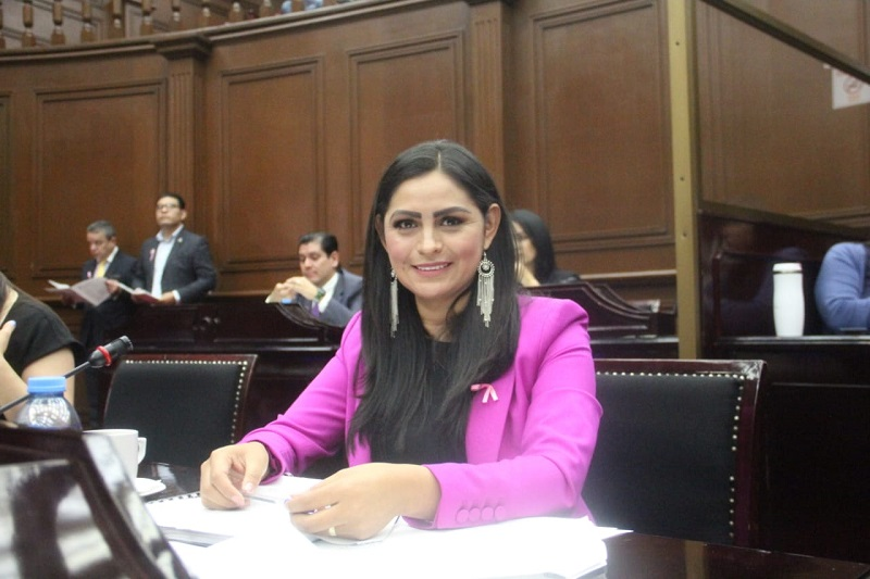 Además, la diputada por el Distrito de Pátzcuaro será integrante de las Comisiones de Justicia e Igualdad de Género