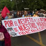 Ambas marchas fueron monitoreadas por elementos de la Policía Michoacán para evitar algún incidente, mientras que elementos de Tránsito y Vialidad realizaron cortes a la circulación