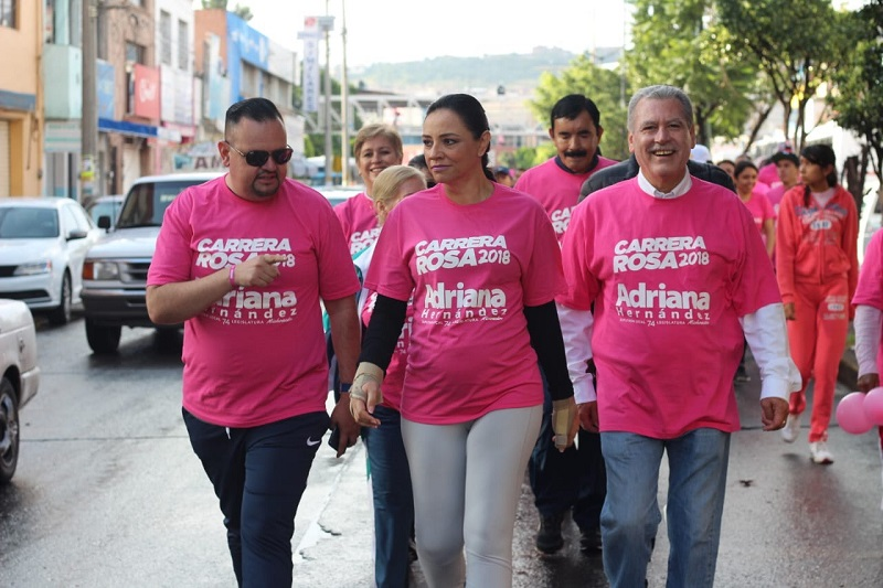 Adriana Hernández invitó a participar a la siguiente carrera que se llevará a cabo en Jacona, el próximo 28 de octubre