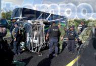 Los elementos están adscritos a la región de Apatzingán y fueron trasladados primeramente al Hospital Regional de Apatzingán y posteriormente al IMSS para recibir atención médica