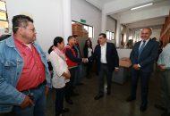 Raya Pizano recorrió las oficinas centrales de la dependencia para presentarse con el personal