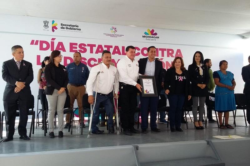 Encabeza COEPREDV Caminata por la Inclusión sobre la Avenida Madero de la capital michoacana
