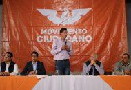 Esta licencia para dejar la dirigencia obedece a la necesidad de enfocar toda la energía en fortalecer el proyecto ciudadano desde el Congreso del Estado, remarcó Paredes Andrade