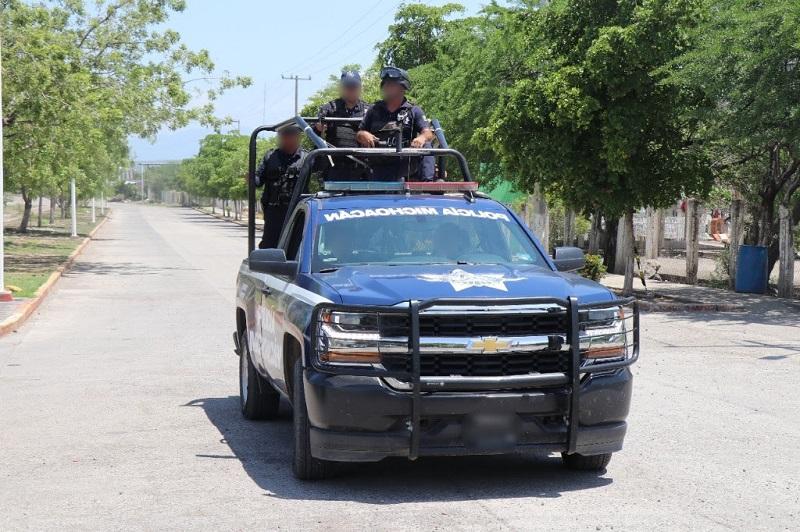 Por instrucción del mando estatal en seguridad, Juan Bernardo Corona Martínez, elementos estatales arribaron a Buenavista y se mantendrán de base para el reforzamiento de las labores operativas en la zona