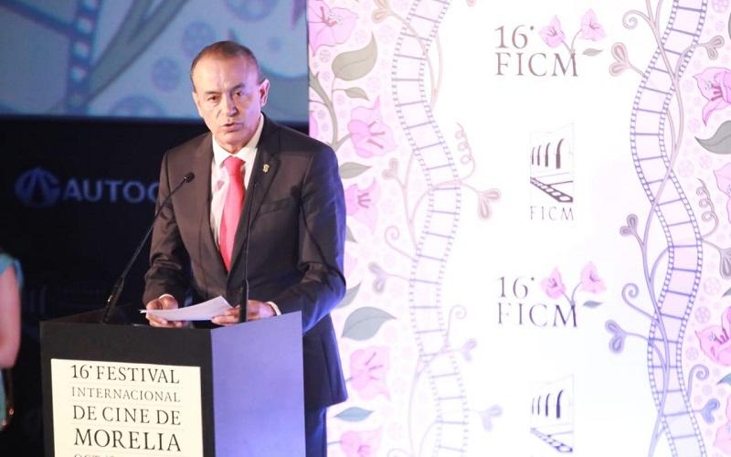 En representación del gobernador Silvano Aureoles, el secretario de Gobierno, Pascual Sigala, inaugura la XVI edición del máximo escaparte del séptimo arte