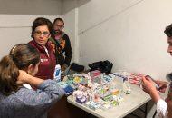 Diana Carpio instruyó al equipo multidisciplinario de especialistas a vigilar de manera permanente la salud de las 68 personas refugiadas, a fin de evitar brotes de algún padecimiento infeccioso