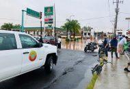 La complicación vial también se encuentra sobre Poliducto desde Francisco Luna a María del Rosario de la Cruz en la colina Primo Tapia Poniente, en Manantiales y Carlos Salazar