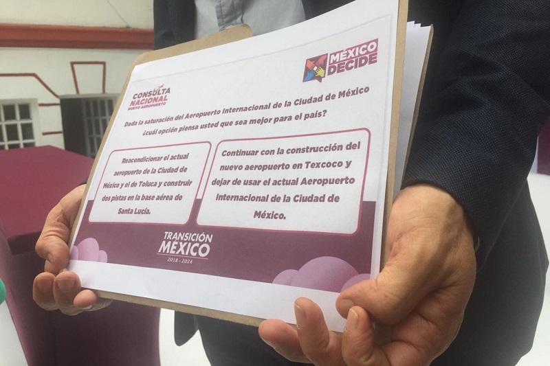 Dicen que la consulta es abierta a la ciudadanía en general y basta con presentar la credencial de elector para poder participar