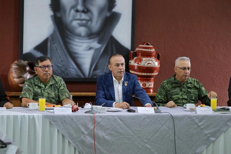 La seguridad de los michoacanos es prioridad, refrenda secretario de Gobierno, Pascual Sigala