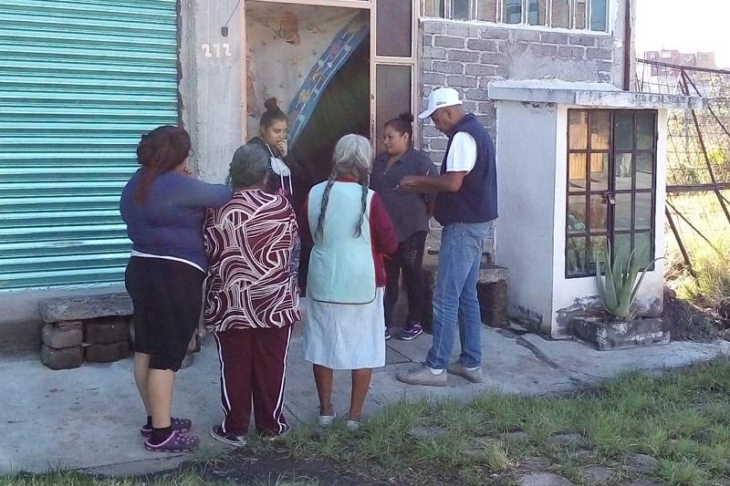 Con el objetivo de conocer la cifra real de personas afectadas y orientar los esfuerzos para cubrir realmente las necesidades básicas de la población, dicho proceso se concluirá cuando se alcancen las 2 mil viviendas