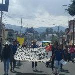 Los manifestantes demandaron, entre otras cosas, el pago de adeudos a los albergues estudiantiles