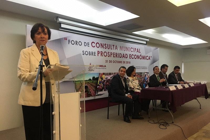 La Secretaría de Desarrollo Económico y Emprendedor convocó a los sectores productivos, académicos, sociales y organismos civiles para participar en este foro de Consulta Municipal