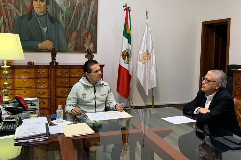 El titular Ejecutivo estatal instruyó al Secretario de Finanzas a continuar fortaleciendo de manera conjunta la gestión de recursos ante las instancias competentes