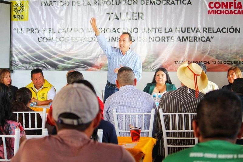 Soto Sánchez reprochó que el aguacate se venda actualmente en 18 pesos por kilo, mientras que en Estados Unidos, una pieza de aguacate se encuentre en 2 dólares