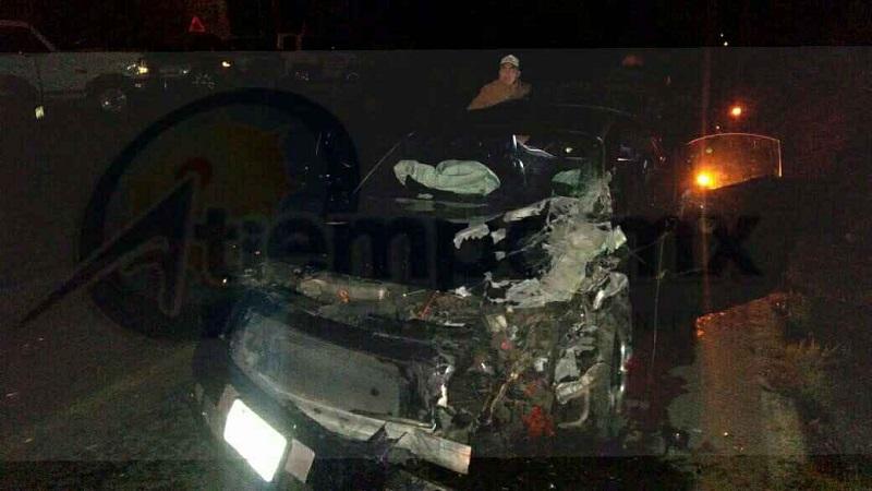 El accidente ocurrió aproximadamente a las 03:00 horas cuando reportaron al número de emergencias que a la altura del Puente de La Garita se había suscitado un accidente con lesionados