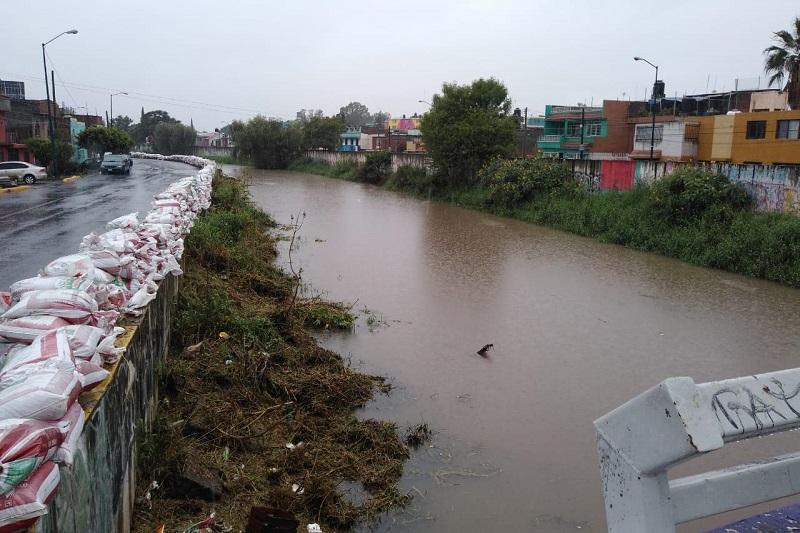 Caudales de los cuerpos de agua de la ciudad no representan riesgo para la ciudadanía; no hay desfogue de la Presa Cointzio