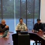 En el encuentro participaron los secretarios de Gobierno, Pascual Sigala Páez, y de Finanzas y Administración, Carlos Maldonado Mendoza