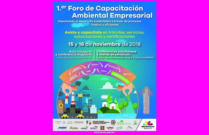El foro se realizará el próximo 15 y 16 de noviembre en el marco del día Internacional del aire puro, con la participación de la SEMARNAT, PROFEPA, CONAGUA, PROAM, OOAPAS, Laboratorios Acreditados, Organismos Capacitadores y Acreditadores
