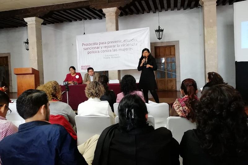 Carol Arriaga presenta Protocolo para la Paz Política en Michoacán