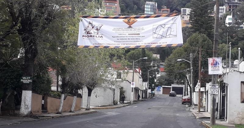 Según el Ayuntamiento de Morelia solo intervendrán dos calles y el tiempo de duración sería aproximado a los tres meses