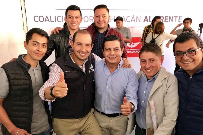 Marko Cortés encabeza las preferencias con 363 votos a favor, contra los 37 que alcanzó Manuel Gómez Morín en el distrito 19